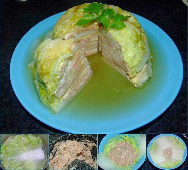 ซาลาเปาผักกาดขาวใส่ 3 เซียน